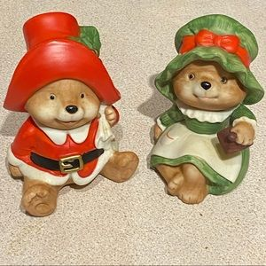 Homco Holiday - HOMCO #5600 Vintage Christmas Bears